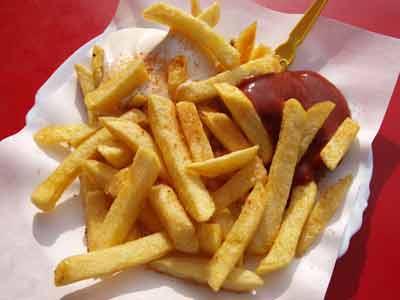fastfood kaliumtekort