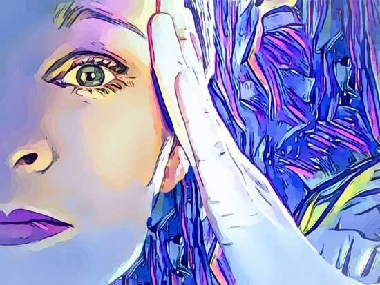 vrouw hoofdpijn migraine